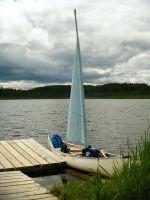 Our sailing canoe